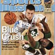 University Of North Carolina Tyler Hansbrough, 2009 Ncaa Sports Illustrated Cover Art Print