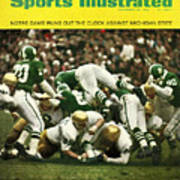University Of Notre Dame Football Sports Illustrated Cover Art Print