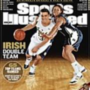 University Of Notre Dame Kyle Mcalarney And Ashley Barlow Sports Illustrated Cover Art Print