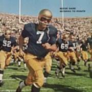 University Of Notre Dame Qb Johnny Huarte Sports Illustrated Cover Art Print