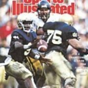 University Of Notre Dame Qb Tony Rice, 1989 Fiesta Bowl Sports Illustrated Cover Art Print