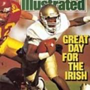University Of Notre Dame Qb Tony Rice Sports Illustrated Cover Art Print