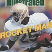 University Of Notre Dame Rocket Ismail Sports Illustrated Cover Art Print