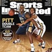 University Of Pittsburgh Dejuan Blair And Shavonte Zellous Sports Illustrated Cover Art Print