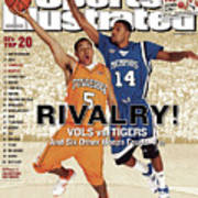 University Of Tennessee Chris Lofton And University Of Sports Illustrated Cover Art Print