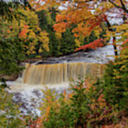 Upper Tahquamenon Autumn Colors -0007 Art Print