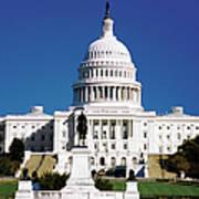 U.s. Capitol Building In Washington Art Print
