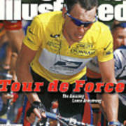 Us Postal Service Team Lance Armstrong, 2000 Tour De France Sports Illustrated Cover Art Print