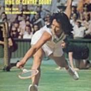 Usa Billie Jean King, 1973 Wimbledon Sports Illustrated Cover Art Print
