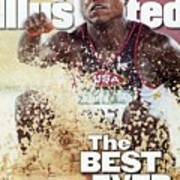 Usa Carl Lewis, 1996 Summer Olympics Sports Illustrated Cover Art Print