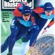Usa Dan Jansen And Bonnie Blair, 1994 Winter Olympics Sports Illustrated Cover Art Print