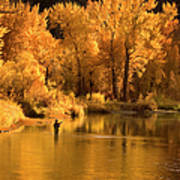 Usa, Idaho, Salmon River, Mature Man Art Print