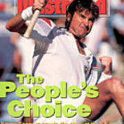 Usa Jimmy Connors, 1991 Us Open Sports Illustrated Cover Art Print