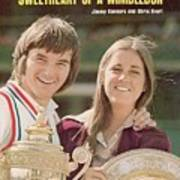 Usa Jimmy Connors And Usa Chris Evert, 1974 Wimbledon Sports Illustrated Cover Art Print