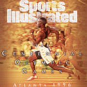 Usa Michael Johnson, 1996 Summer Olympics Sports Illustrated Cover Art Print