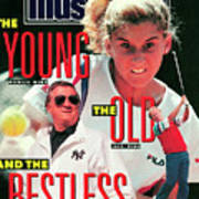 Usa Monica Seles, 1990 French Open Sports Illustrated Cover Art Print