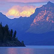Usa, Montana, Glacier Np, Mountains Art Print
