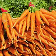 Usa, New York City, Carrots For Sale Art Print