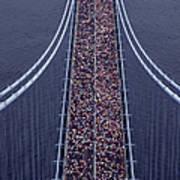 Usa, New York City, Marathon Race Art Print