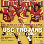 Usc Emmanuel Moody, C.j. Gable, And Chauncey Washington Sports Illustrated Cover Art Print