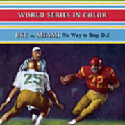 Usc O.j. Simpson Sports Illustrated Cover Art Print