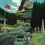 U.s./canadian Border At Waterton-glacier Art Print