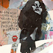 Uschi Obermaier Kommune 1 - Plakative Collage Art Print
