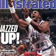 Utah Jazz Karl Malone, 1997 Nba Finals Sports Illustrated Cover Art Print