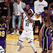 Utah Jazz V Los Angeles Lakers Art Print