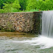 Valley Creek Waterfall Panorama Art Print