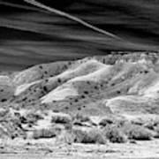 Valley Of Fire Black White Nevada  Art Print