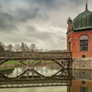 Vallo Castle Wooden Moat Bridge Art Print