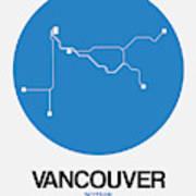 Vancouver Blue Subway Map Art Print