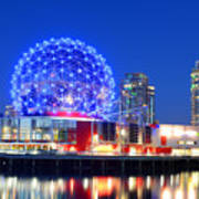 Vancouver Science World At Night Art Print