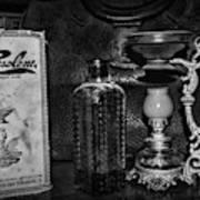 Vapo-cresolene Vaporizer And Bottle Respiratory Remedy Black And White Art Print