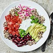 Vegetarian Dish Art Print