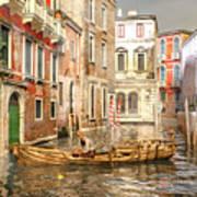 Venice The Little Yellow Duck Art Print