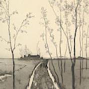 Verfolgung, From The Series Radierte Skizzen Art Print