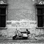 Vespa Piaggio. Black And White Art Print