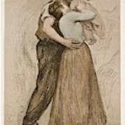 Victor Emile Prouve  French  1858   1943 The Kiss  Le Baiser  1898  Collotype On Wove Paper Art Print