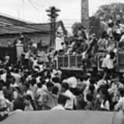 Vietnamese Civilians Crowding In Front Art Print