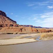 View At Sorrel River Ranch On The Colorado River Near Moab, Utah Art Print
