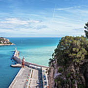 View From Castle Hill To The Sea In Nice Art Print
