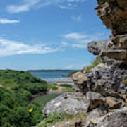 View From Pennard Castle Square Art Print