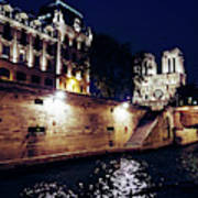 View Of Notre Dame From The Sienne River In Paris, France Art Print