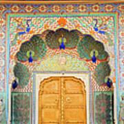 View Of Peacock Door In Palace Art Print