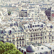 View Of Roofs Of Paris Art Print