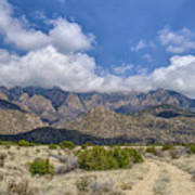 View Of Sandia Mountain Art Print