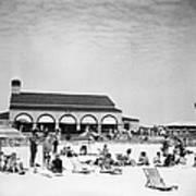 View Of Southampton Beach Club With Art Print