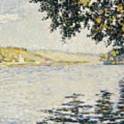 View Of The Seine At Herblay     Art Print